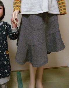 イレギュラーヘムデザインスカート